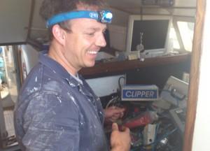 Jon installing the new instruments.