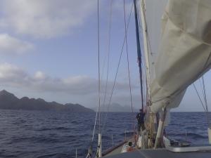 Arriving into the Cape Verdes