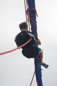 Monkey Jon Climbs Mast