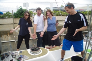 Ta-da. The proud group admire the winning winch