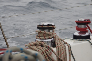By the way, this is a winch in use. For the non-sailors out there