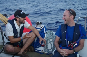 Captain competition: what is Jonny saying to make Andy laugh... and what does hand gesture mean?