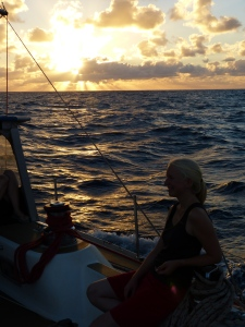 Susanne enjoying the sunset