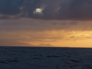 First sight of the Canary Islands