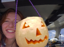 Halloween. This one is for Clare's little brother. It's Jack the butternut squash lantern.