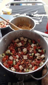 An Atlantic bean and feta salad
