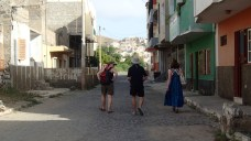 Exploring the dusty streets of Mindelo on the Cape Verdes