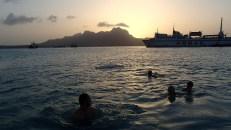 Swimming at Cape Verdes.