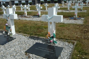 Falklands - the Argentine cemetory
