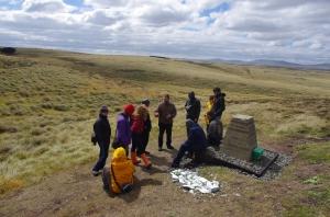 Falklands - The spot where Jones died at Goose Green