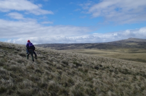 Falklands - Nick picks up Clare to see what it would have been like marching with a backpack