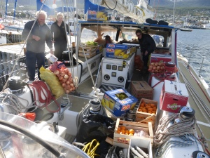 Falklands - the food order in Ushuaia