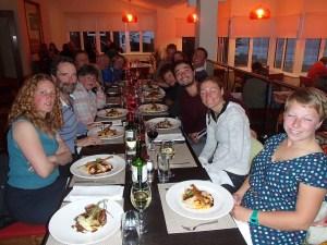 Falklands - dinner out