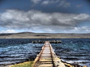 Falklands - Jetty at San Carlos