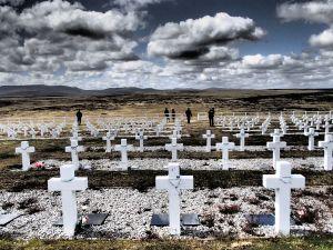 Falklands - the Argentine war cemetory