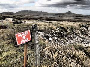 Falklands - minefields